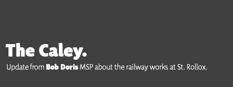 The Caley. Update from Bob Doris MSP about the railway works at St. Rollox